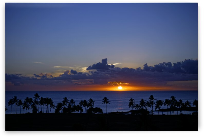 The Perfect Day Ends   Tropical Sunset Hawaii by 1North