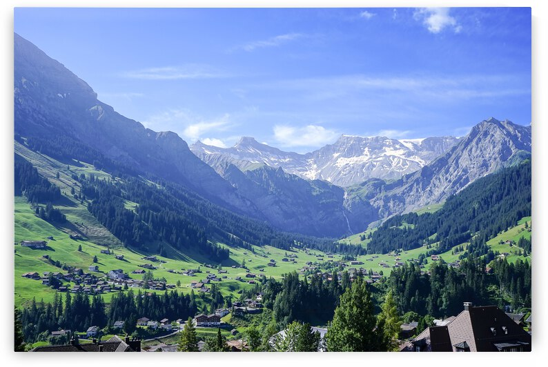 Blue Skies over the Alps in Adelboden Switzerland by 1North