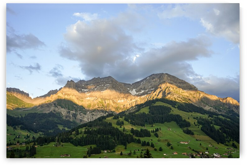 Golden Rays of the Sun Across the Mountains at Sunset in Switzerland 1 of 2 by 1North