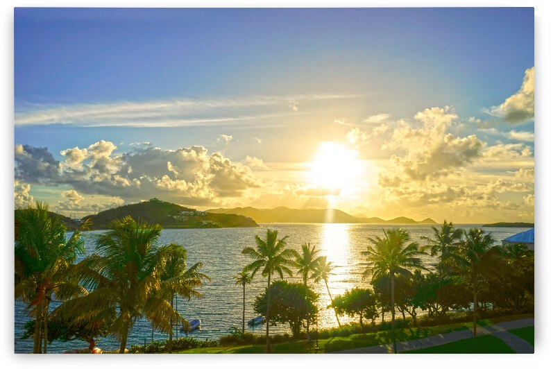 Sunset over Saint Thomas in the Caribbean Islands by 1North