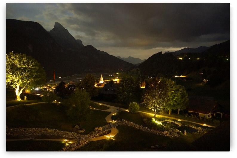 Night Arrives in the Saanen Valley in Switzerland by 1North