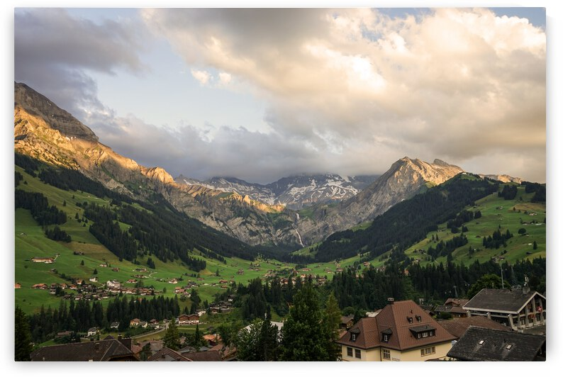 Golden Rays of the Sun Across the Mountains at Sunset in Switzerland 2 of 2 by 1North