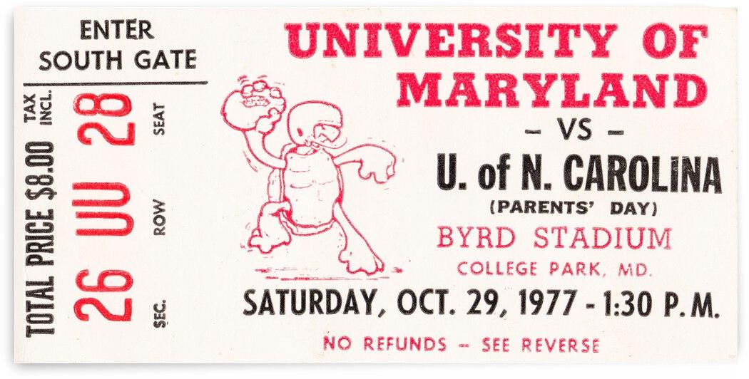 1977 Maryland vs. North Carolina by Row One Brand