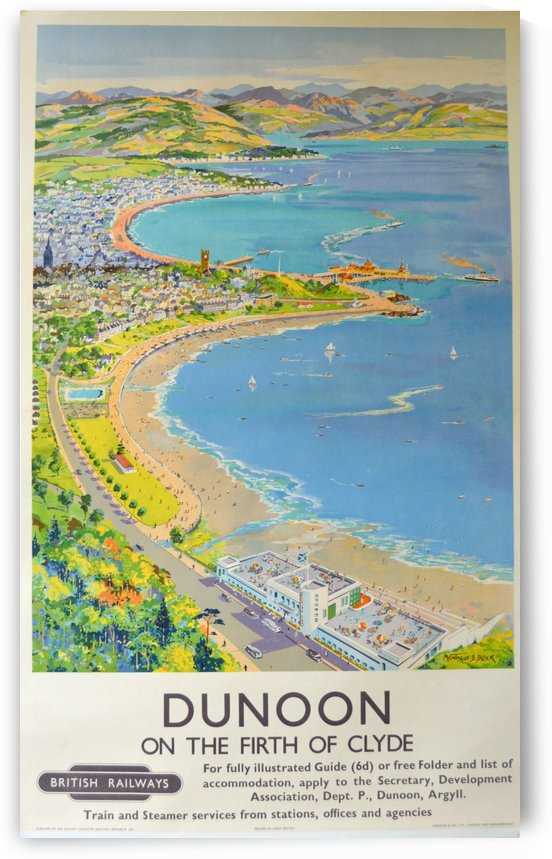 Dunoon on the Firth of Clyde by VINTAGE POSTER