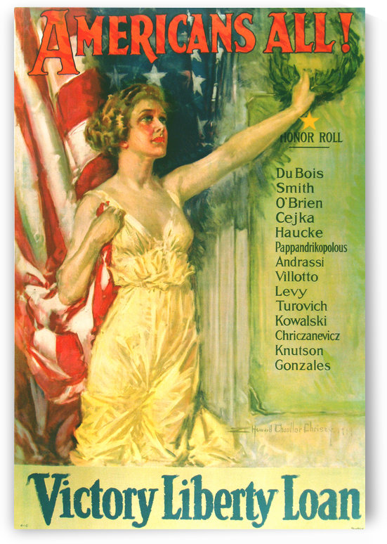 Americans All Victory Liberty Loan Poster by VINTAGE POSTER