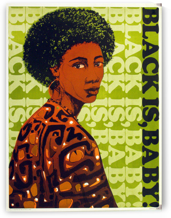 Black is baby by VINTAGE POSTER