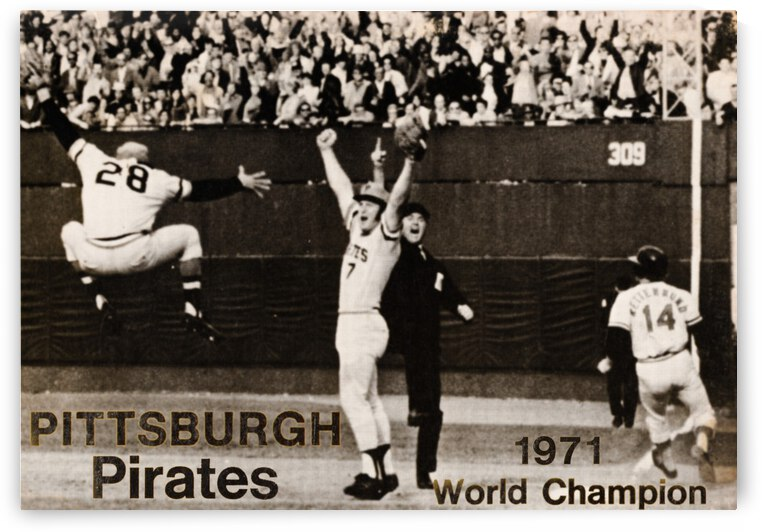 1971 Pittsburgh Pirates World Champions Art by Row One Brand