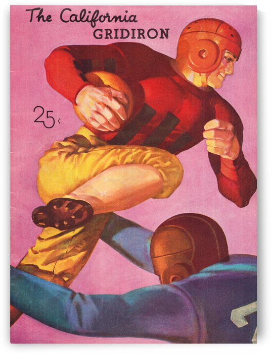 1935 Cal Bears vs. Santa Clara Broncos by Row One Brand