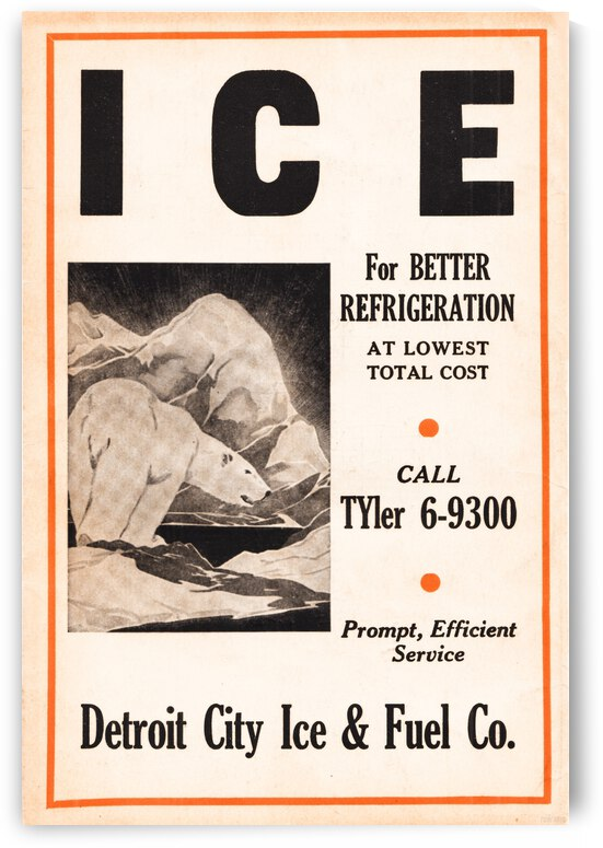 1939 Detroit City Ice and Fuel Company Ad by Row One Brand