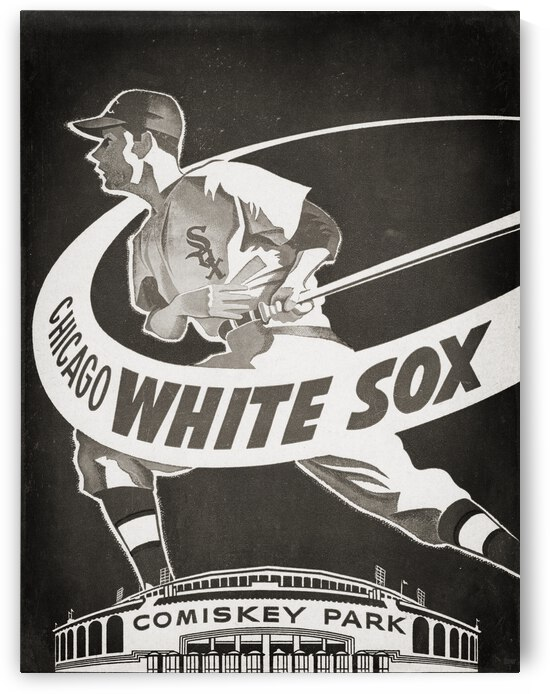 1950 Chicago White Sox Baseball Art Remix by Row One Brand
