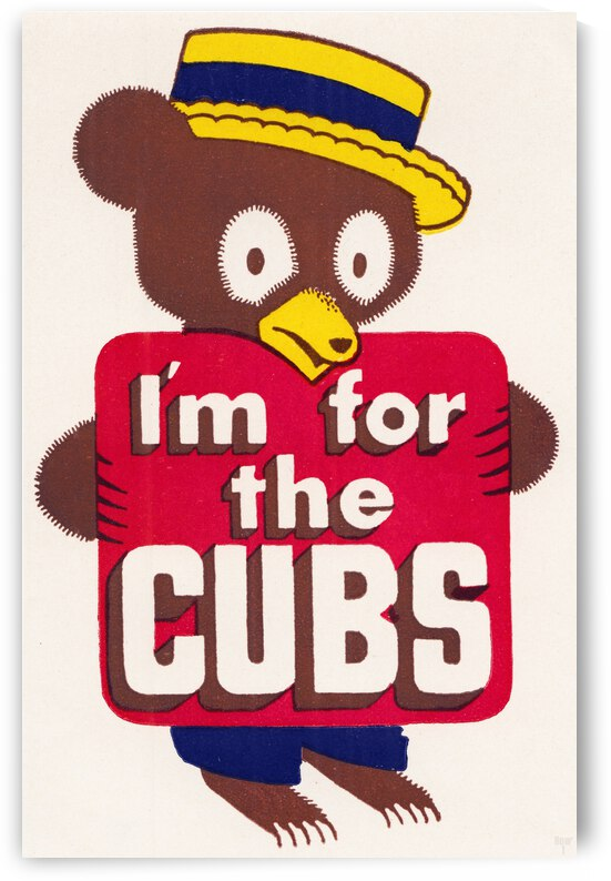 Vintage Forties I am for the Cubs Art by Row One Brand
