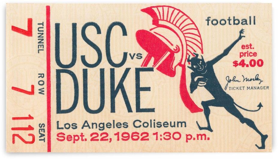1962 USC vs. Duke Football Ticket Art by Row One Brand