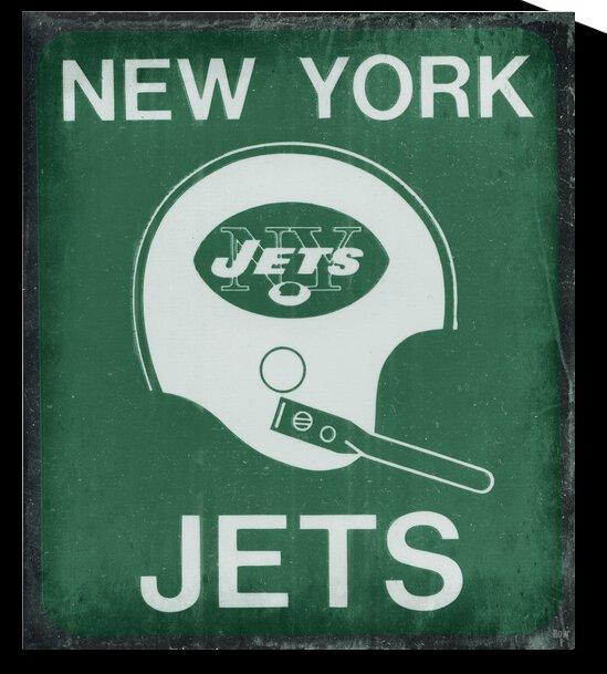 Retro Sixties New York Jets Helmet Art by Row One Brand