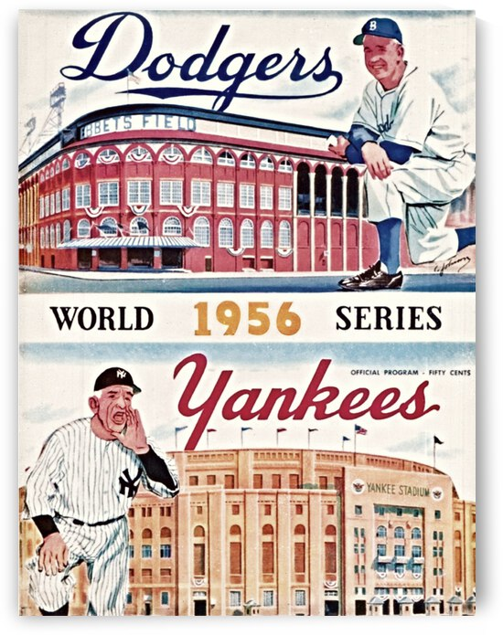 1956 World Series Program Cover Art by Row One Brand