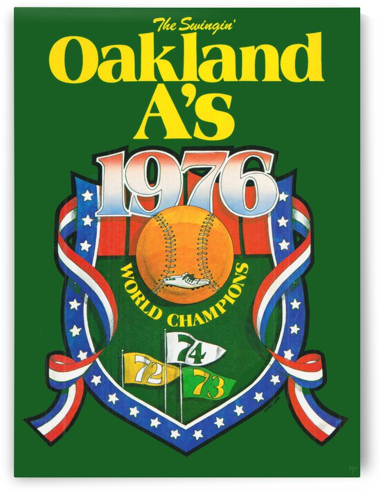 1976 Oakland Athletics Retro Poster by Row One Brand