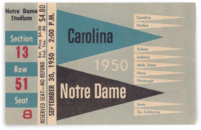 1950 North Carolina vs. Notre Dame by Row One Brand