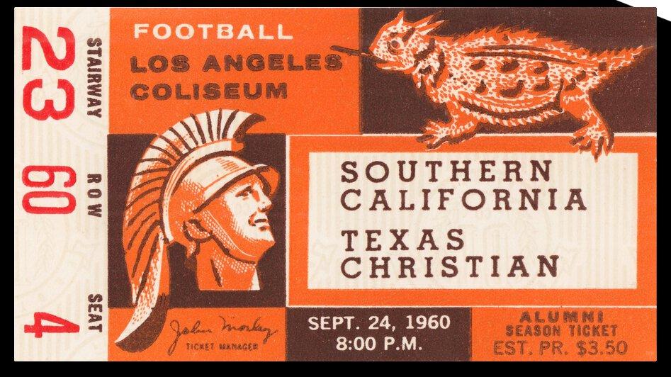 1960 Texas Christian vs. USC by Row One Brand