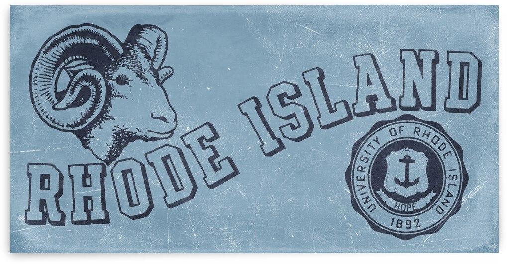 Vintage Fifties University of Rhode Island Art by Row One Brand