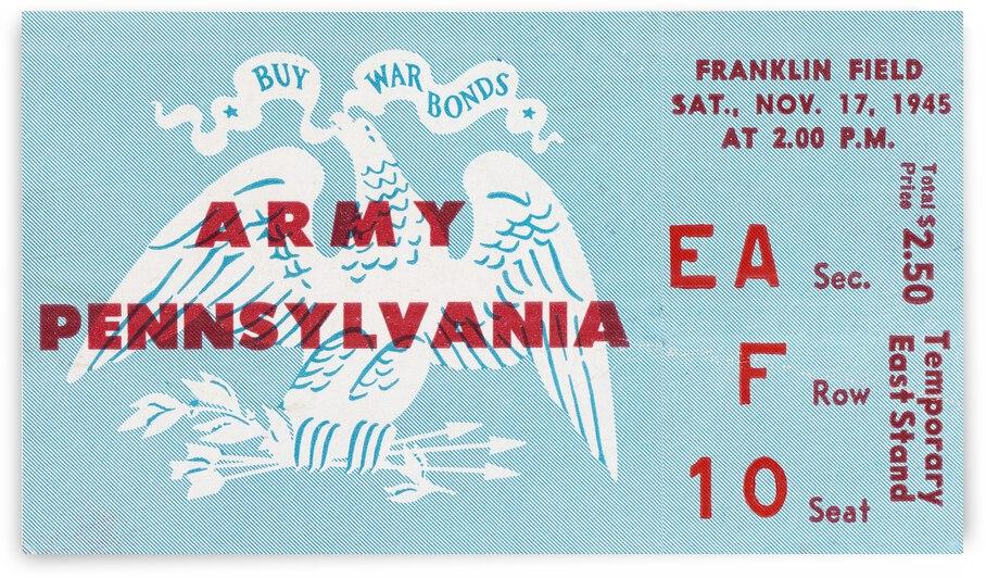 1945 Penn vs. Army Football Ticket Canvas by Row One Brand