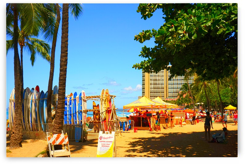 Waikiki Snapshot in Time 2 of 4 by 24