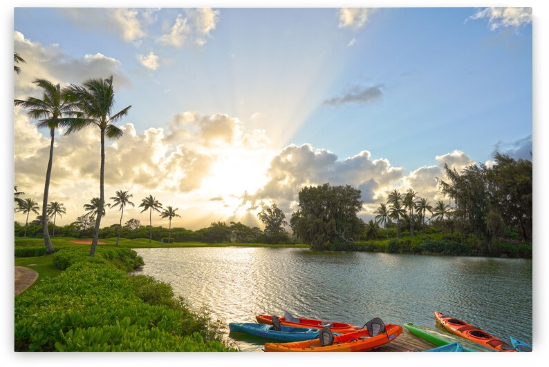 Sunset by the Lakeshore in Kauai by 24