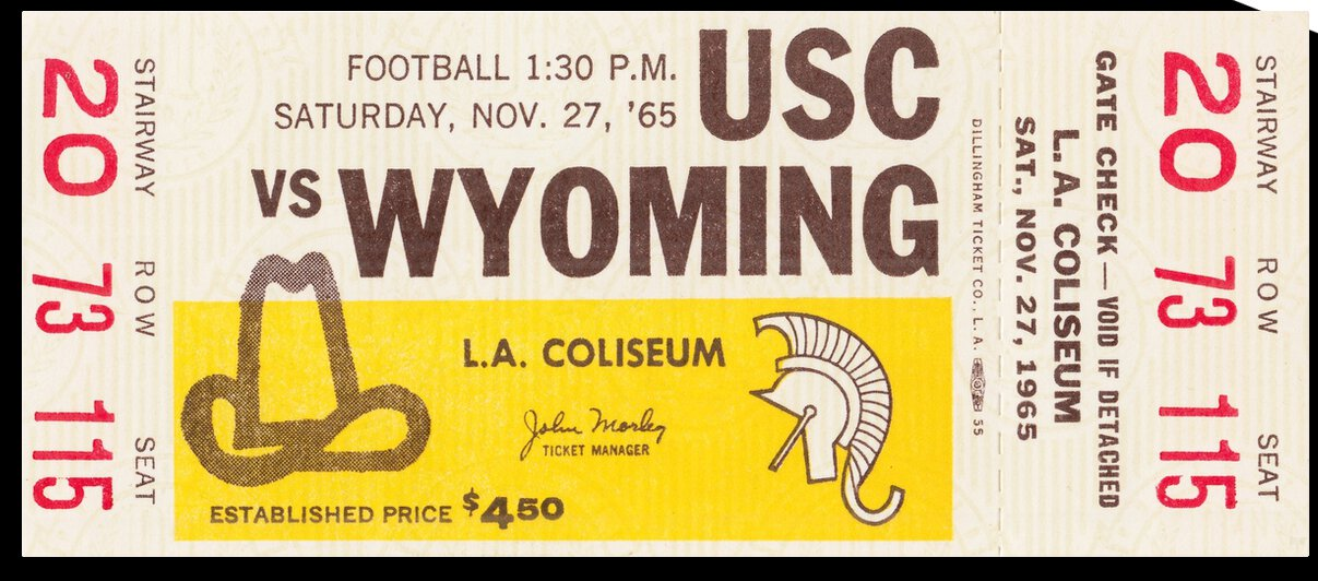 1965 Wyoming vs. USC by Row One Brand