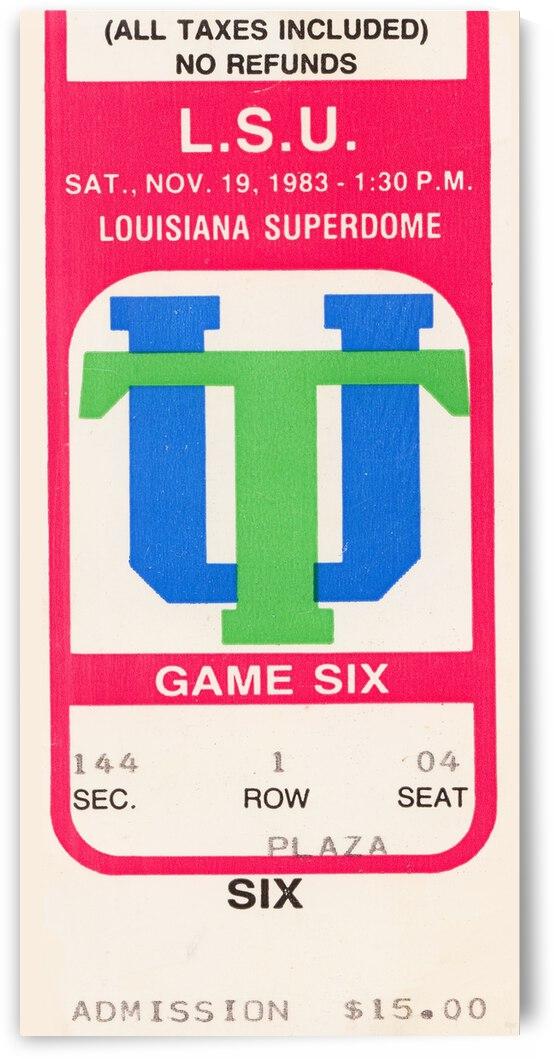 1983 LSU vs. Tulane by Row One Brand