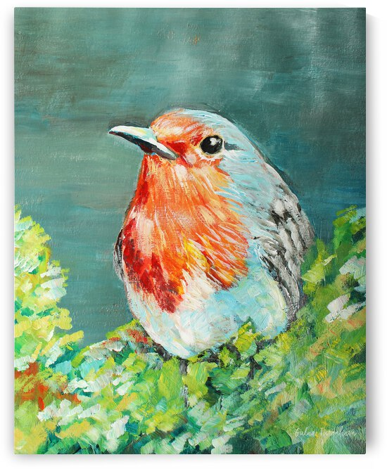Bird Painting Robin by bluefloret