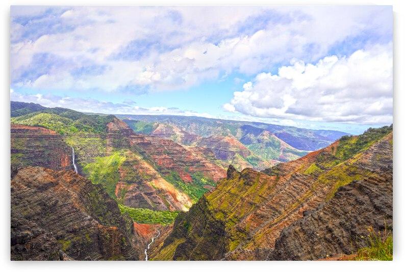 Waipoo Falls and Waimea Canyon on the Island of Kauai by 360 Studios