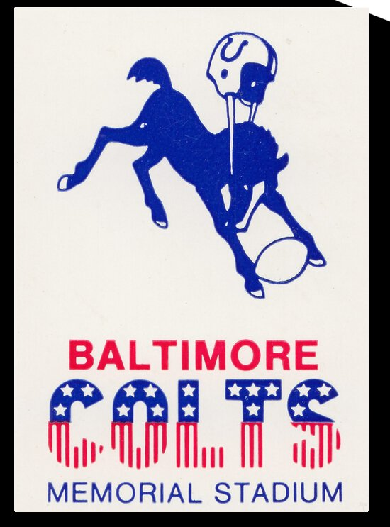 1976 Baltimore Colts Ticket Stub Art by Row One Brand