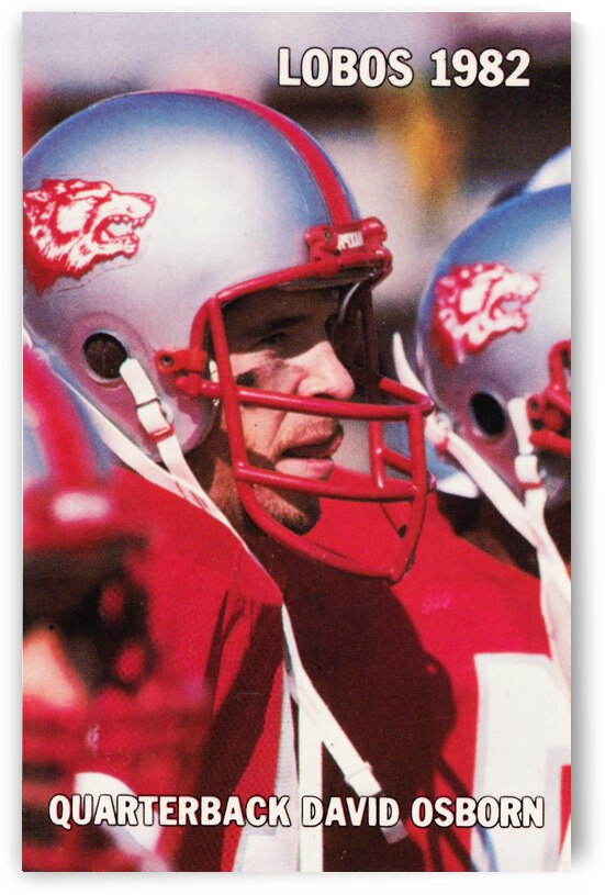 1982 New Mexico Lobos Football David Osborn Poster by Row One Brand