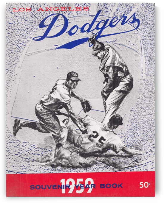 1959 LA Dodgers Nick Volpe Art by Row One Brand