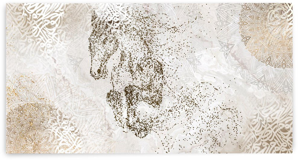 calligraphy horse  by ahmed abdulla