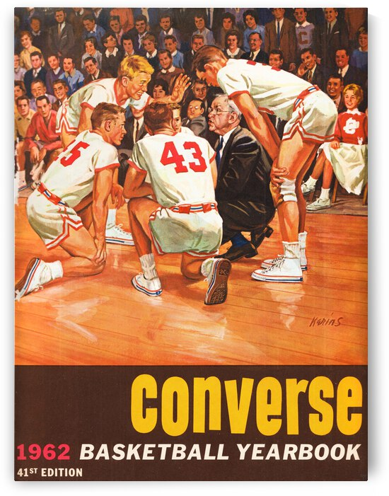 1962 Charles Kerins Converse Basketball Cover Art by Row One Brand