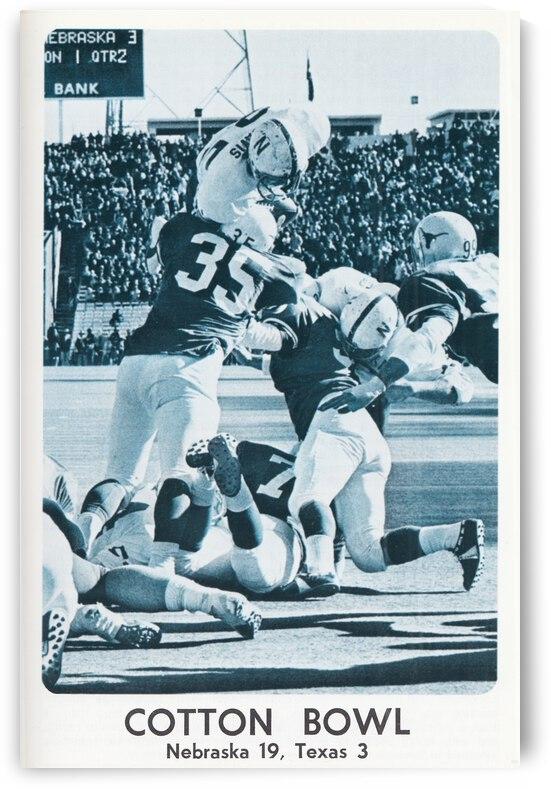 1974 Nebraska Cornhuskers Football Poster by Row One Brand