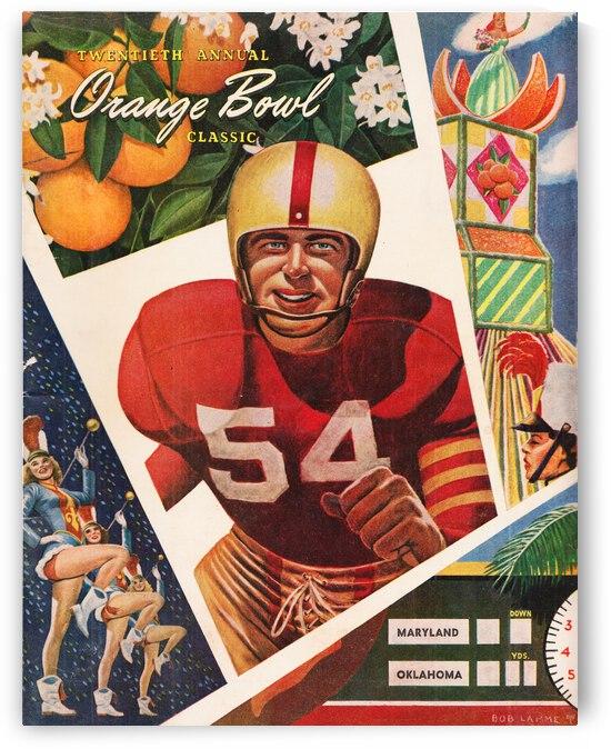 1954 Orange Bowl Maryland vs. Oklahoma Program Cover Art by Row One Brand