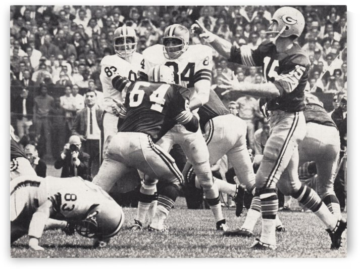 1966 Bart Starr Green Bay Packers Quarterback Photo by Row One Brand