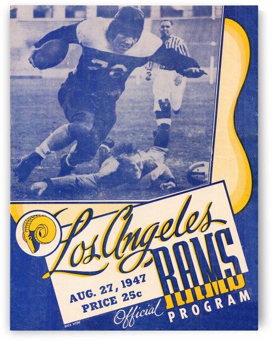 1947 LA Rams Football Program Cover Art by Row One Brand