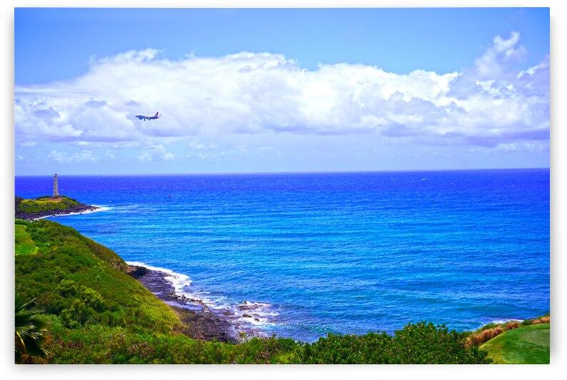 Hawaiian Airlines Flight Landing at Lihue Airport on the Island of Kauai by 360 Studios