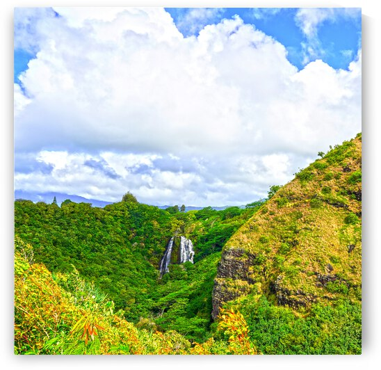 The Falls at the Mountain Overlook on Kauai Square by 24
