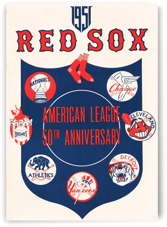 1951 Boston Red Sox Score Card Poster by Row One Brand
