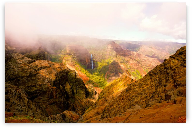 Mist and Shadows Dance in the Light in Waimea Canyon by 1North