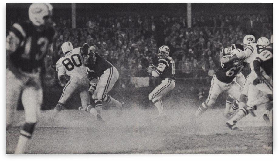1968 New York Jets Joe Namath Pass Photograph by Row One Brand
