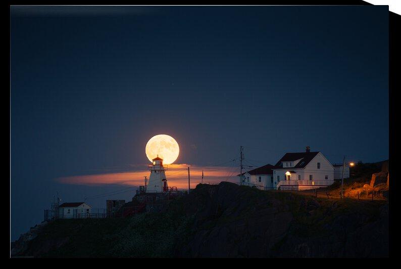 Moonrise behind Fort Amherst by Alex Bihlo