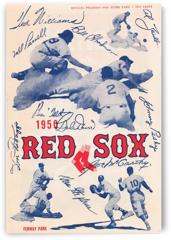 1950 Boston Red Sox Score Book Canvas Art by Row One Brand