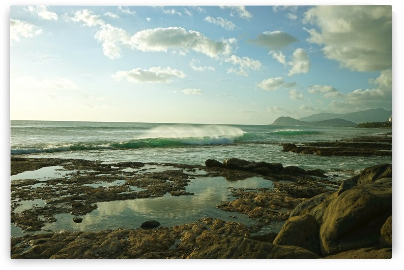 Waves Crashing in the Bay on the Island of Oahu in Hawaii by 360 Studios