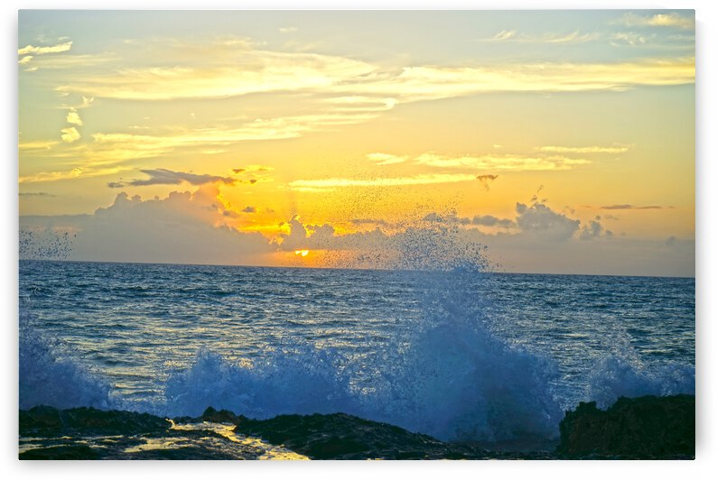 Sunset in the Bay on the Island of Oahu in Hawaii by 360 Studios