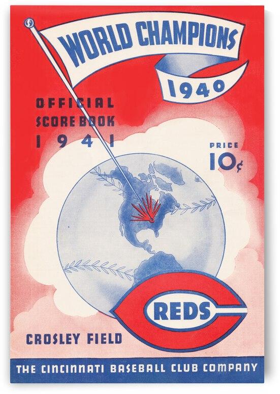 1941 Cincinnati Reds Score Book Art by Row One Brand