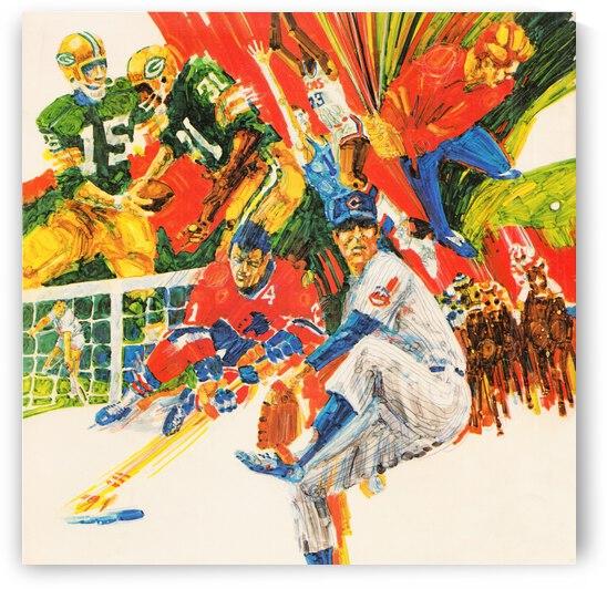 1971 Retro Sports Art by Row One Brand