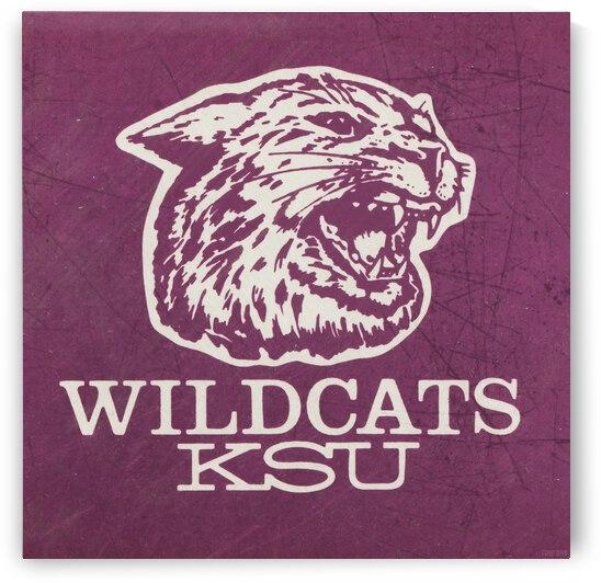 Retro Eighties KSU Wildcats Art by Row One Brand